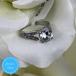 Jennie's Closet Jewelry - 3.17 CT Stainless Steel CZ Engagement Ring Sz: 5